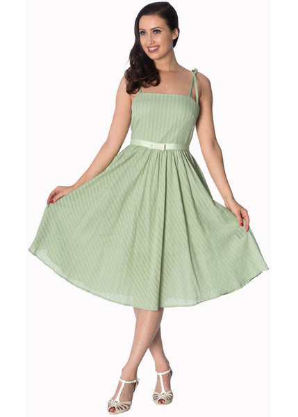 Banned Make a Wish 50's Swing Dress green