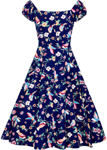 Collectif Dolores Charming Bird 50's Swing Dress