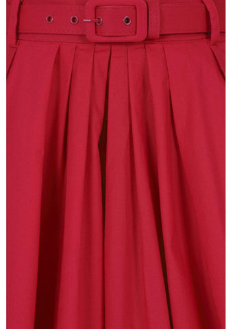 Collectif Dakota 50's Swing Skirt Red