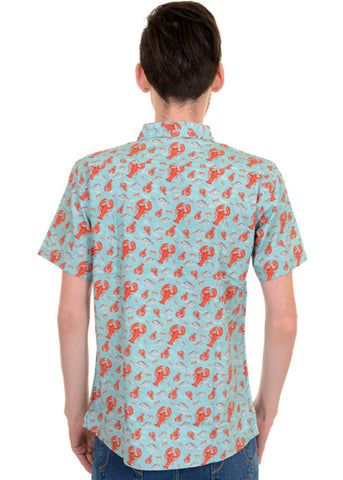 Run and Fly Mens Lobster Shirt