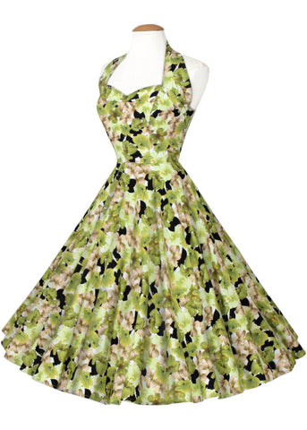 Vivien of Holloway Green Hibiscus 50's Cirkle Swing Dress