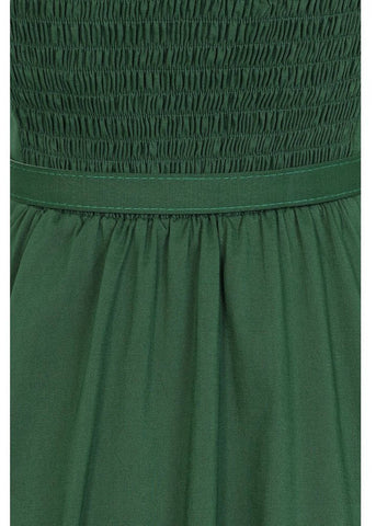 Collectif Beth Fringe 50's Swing Dress Green