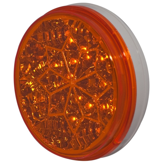 4 Round 16 Led Light (Amber Leds / Amber Lens) - Lighting & Accessories