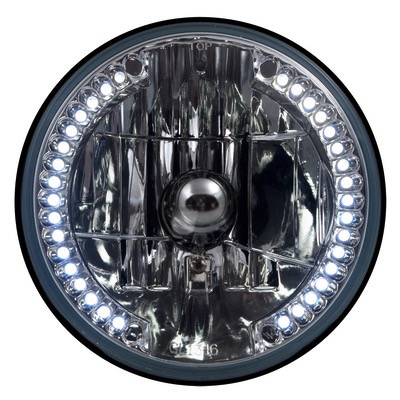 7 Headlamp W/ White Led 8 Bullet Plug Wiring (Gl-1316-Hw) - Lighting & Accessories