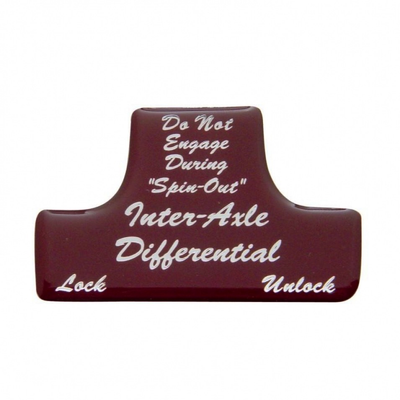 Axle Differential Switch Guard Sticker Only - Red Cab Interior