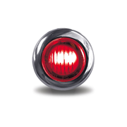 Mini Button Dual Revolution Marker Led - Red / White - Lighting & Accessories