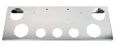 Ss Rear Light Panel (4 & 2.5 Cutouts License Plate) - Mudflap Accessories