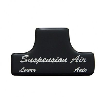 Suspension Air Switch Guard Sticker Only - Black Cab Interior