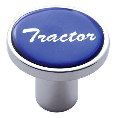 Tractor Air Valve Knob - Blue Glossy Sticker Cab Interior