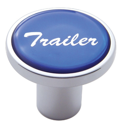 Trailer Air Valve Knob - Blue Glossy Sticker Cab Interior