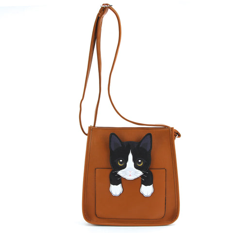 Peeking Cat Out Shoulder Bag