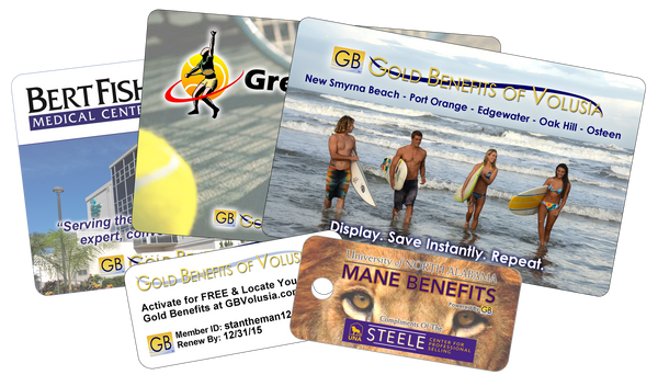 Gold Benefits Card Collage