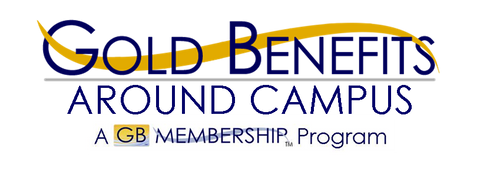Gold Benefits Around Campus logo