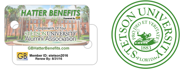Gold Benefits University Program Stetson Card and Logo
