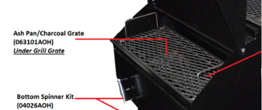 The Good-One Open Range Replacement Ash Pan/Charcoal Grate, Generation III