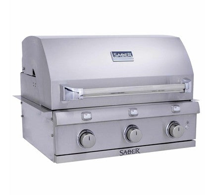 Saber 3-Burner Stainless Steel Built-In Grill (NG) - Premier Grilling