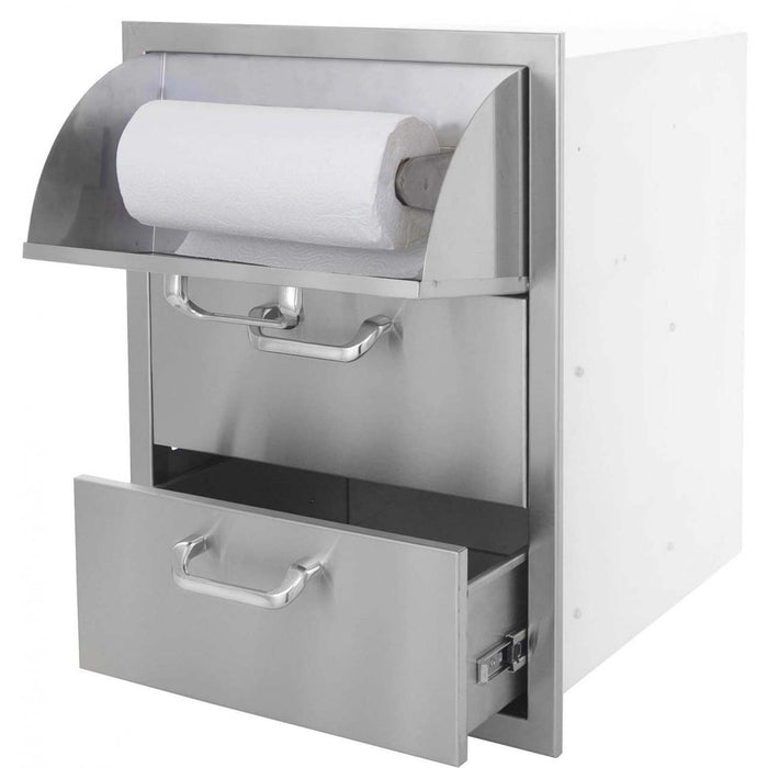 "PCM 260 Series 17"" x 24"" Triple Drawers w/ Paper Towel Dispenser - Premier Grilling"