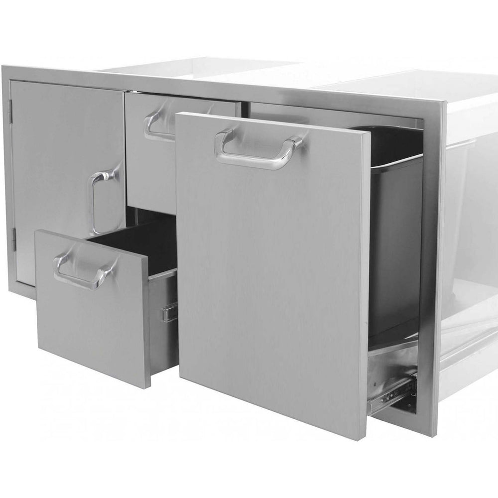 "PCM 260 Series 42"" Door, 2 Drawers, Trash Roll-Out (Triple Combo) - Premier Grilling"