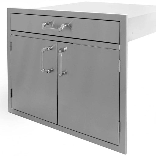 "PCM 260 Series 30"" Double Door w/ 4"" Drawer - Premier Grilling"