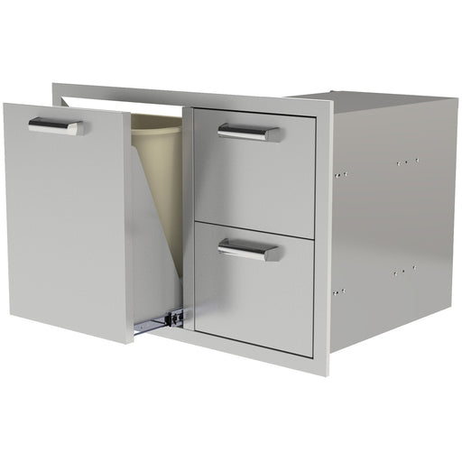 PCM 350H Series Trash/Propane Roll-Out w/ 2 Drawers - Premier Grilling