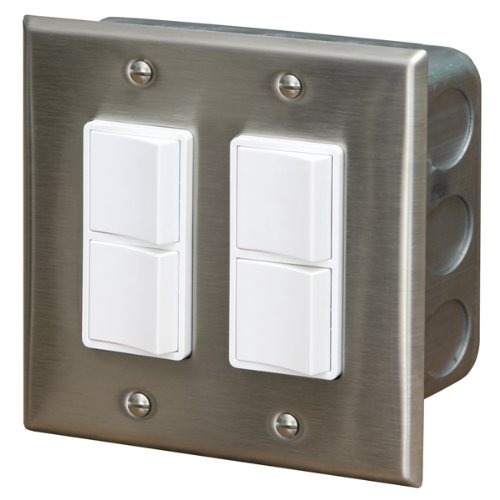 Infratech Dual Duplex Flush Wall Plate & Gang Box - Premier Grilling