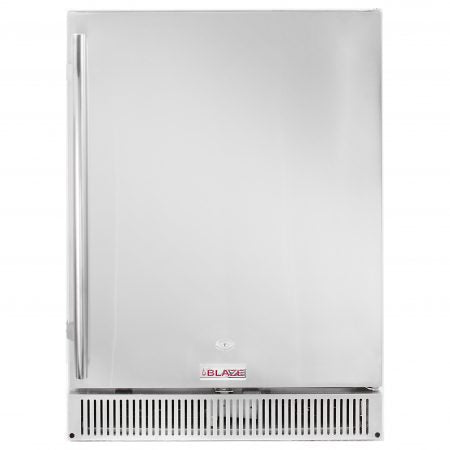 "Blaze 24"" Outdoor-Rated Stainless Steel Fridge, 5.2 CT - Premier Grilling"