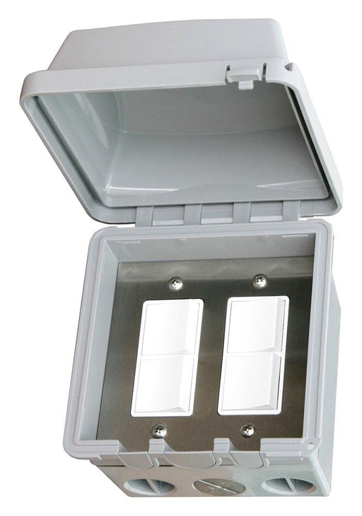 Infratech Dual Duplex Surface Mount w/ Gang Box & Cover
