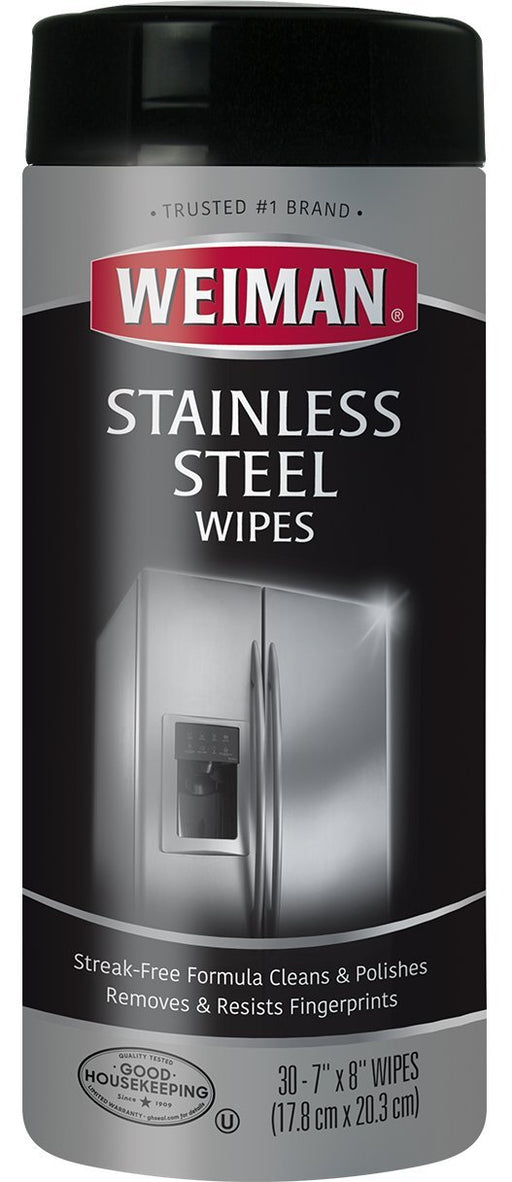 Weiman Stainless Steel Wipes, 4 Per Box - Premier Grilling