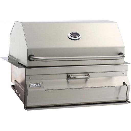"Fire Magic 30"" Legacy Built-In Smoker Charcoal Grill - Premier Grilling"