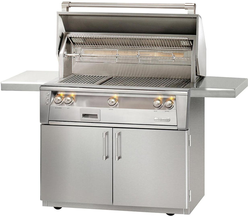 "Alfresco 36"" Sear Zone Gas Grill w/ Cart - Premier Grilling"