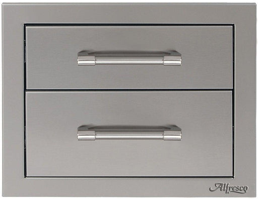 "Alfresco 17"" Two Tier Storage Drawers - Premier Grilling"