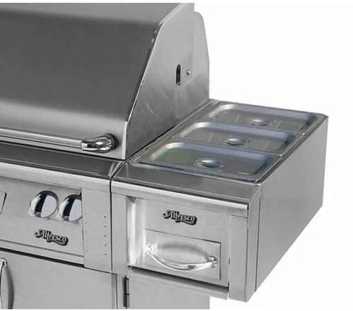 "Alfresco 14"" Cart Mount Food Warmer - Premier Grilling"
