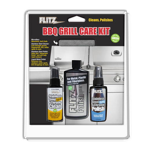 Flitz BBQ Grill Care Kit - Premier Grilling