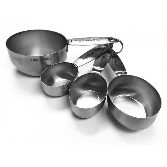 Big Green Egg Measuring Cups, Stainless Steel, Set of 4