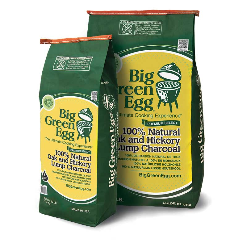 Big Green Egg 100% Natural Oak & Hickory Lump Charcoal - Premier Grilling