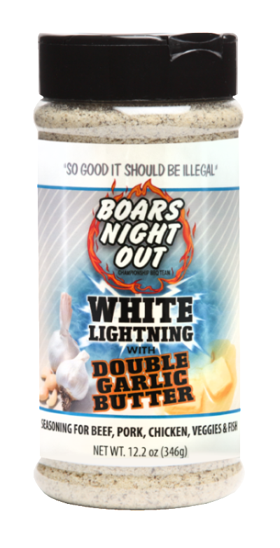 Boars Night Out White Lightning Double Garlic Butter - Premier Grilling