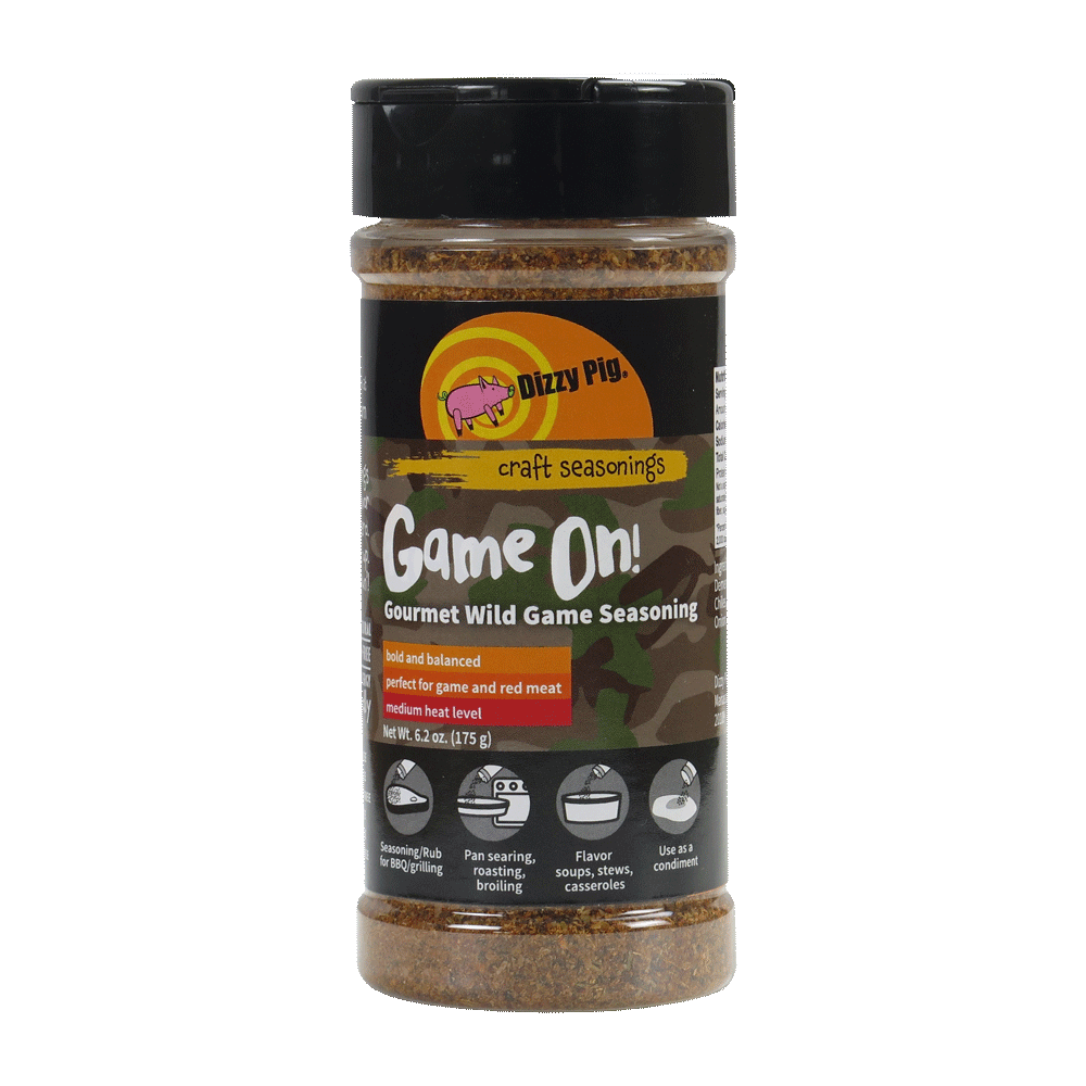 Dizzy Pig Game On! Wild Game Seasoning - Premier Grilling
