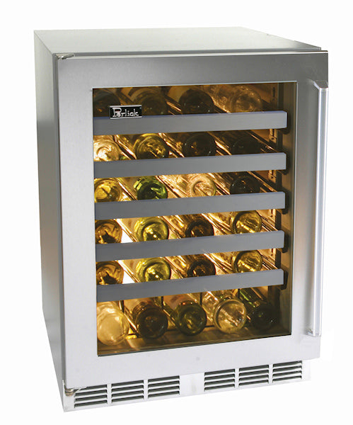 "Perlick 24"" Signature Series Outdoor Wine Reserve w/ Stainless Steel Glass Door, Locks - Premier Grilling"