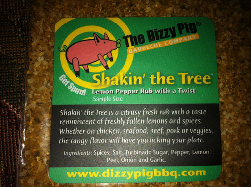 Dizzy Pig Shaking the Tree Gourmet Lemon Pepper (Sample) - Premier Grilling