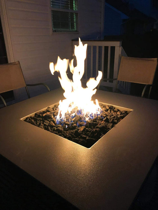 "HPC 24"" Square Fire Pit Match Light, Natural Gas"