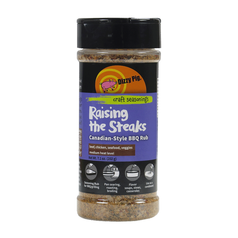 Dizzy Pig Raising the Steaks Canadian-Style BBQ Rub - Premier Grilling