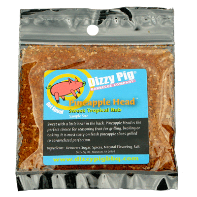 Dizzy Pig Pineapple Head Sweet Tropical Rub (Sample)