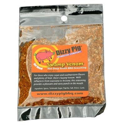 Dizzy Pig Swamp Venom Hot Deep South Seasoning (Sample) - Premier Grilling