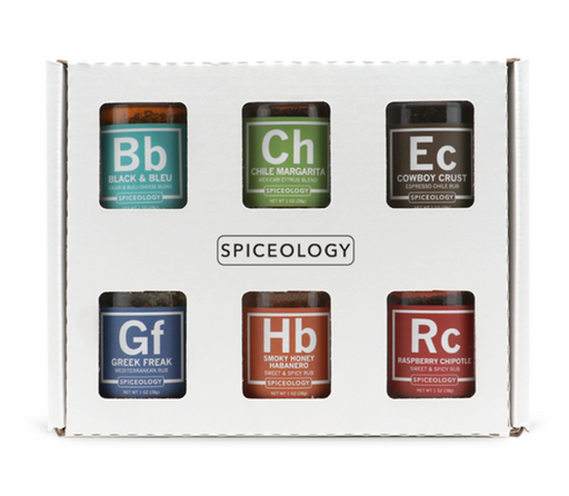 Spiceology Rub Set 6 Pack - Mini Rub Jars - Premier Grilling