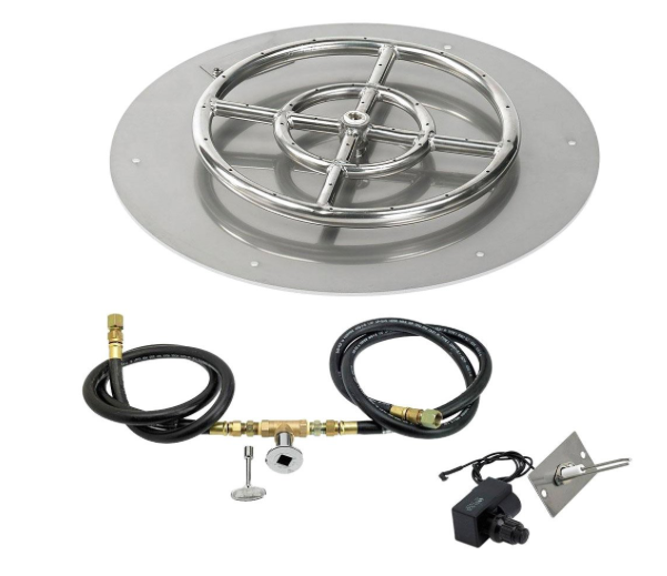"HPC 12"" Round Flat Pan w/ Spark Ignition Kit (6"" Ring)"