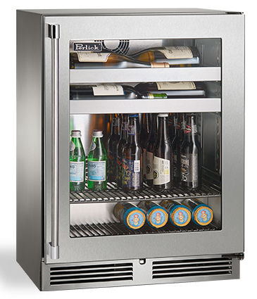 "Perlick 18"" Signature Series Sottile Depth Outdoor Beverage Center w/ Stainless Steel Glass Door"