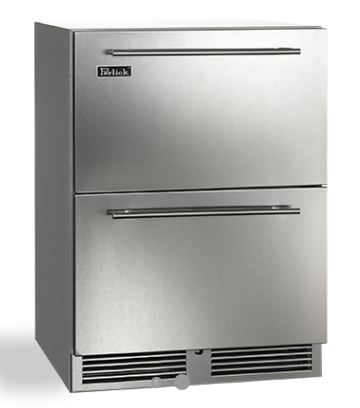 "Perlick 24"" C-Series Outdoor Refrigerator Drawers, Stainless Steel"