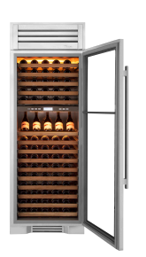 "True Residential 30"" Column 150-Bottle Dual Zone Wine Cooler w/ Glass Door"
