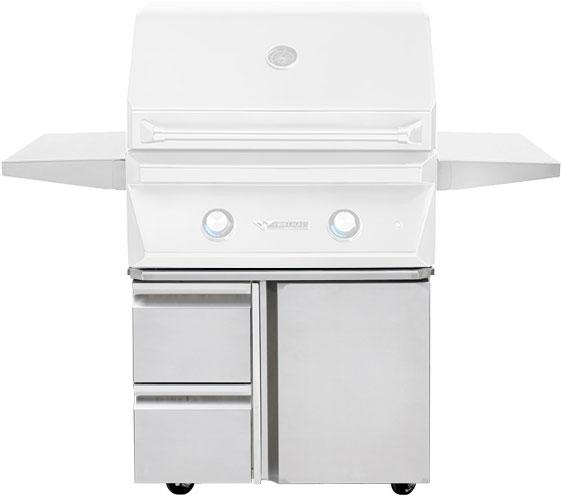 "Twin Eagles 30"" Grill Base, w/ Storage Drawers, Single Door - Premier Grilling"