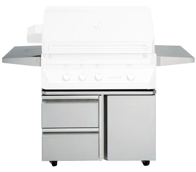 "Twin Eagles 36"" Grill Base w/ Storage Drawers, Single Door - Premier Grilling"